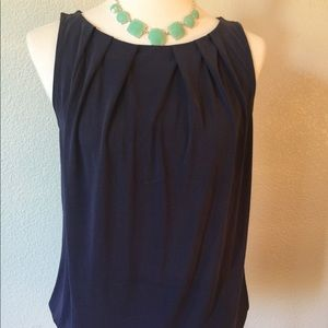 LOFT EUC Navy Sleeveless Top Blouse